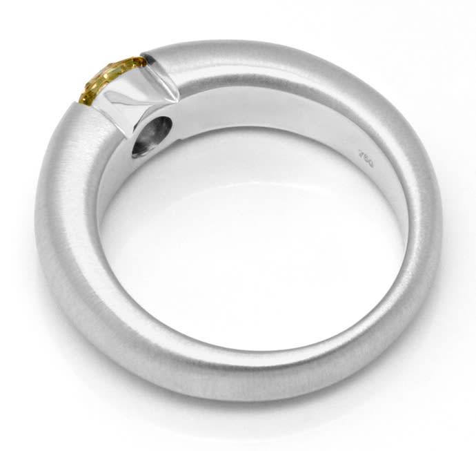 Foto 3, Brilliant Diamant Spannring 0,73 ct Braun 18K Weissgold, R1770