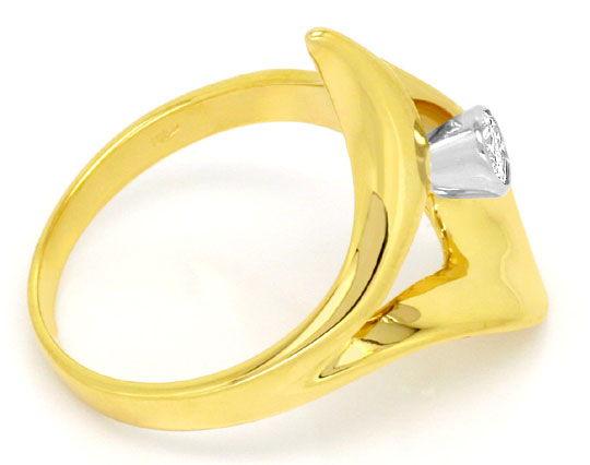 Foto 3, Super Designer Brillant Diamant Ring Gelbgold Weissgold, R1774