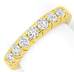 Foto 1 - Brillant Halbmemory Ring Diamanten Ring Gelbgold 0,95ct, R1775