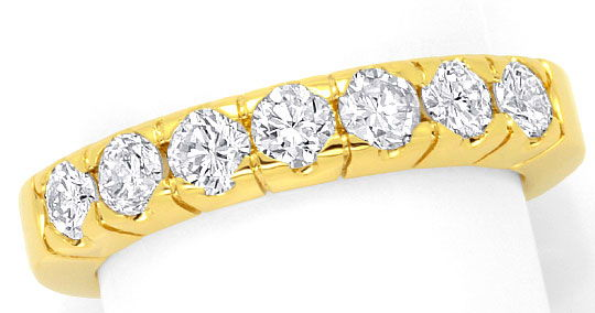 Foto 2 - Brillant Halbmemory Ring Diamanten Ring Gelbgold 0,95ct, R1775