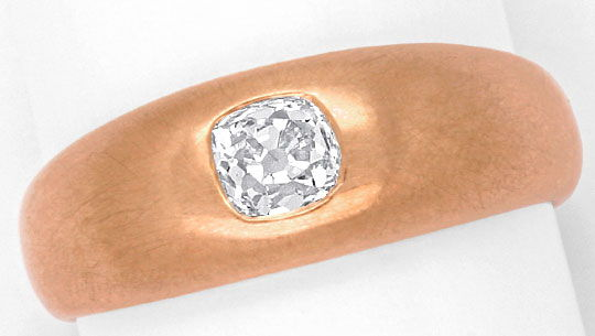 Foto 2, Rotgold Diamant Bandring, Kissen Altschliff, Pillow Cut, R1778