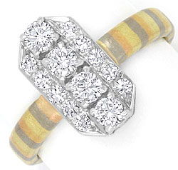 Foto 1, Brilliant Diamant Ring Platin Rotgold Gelbgold Graugold, R1779