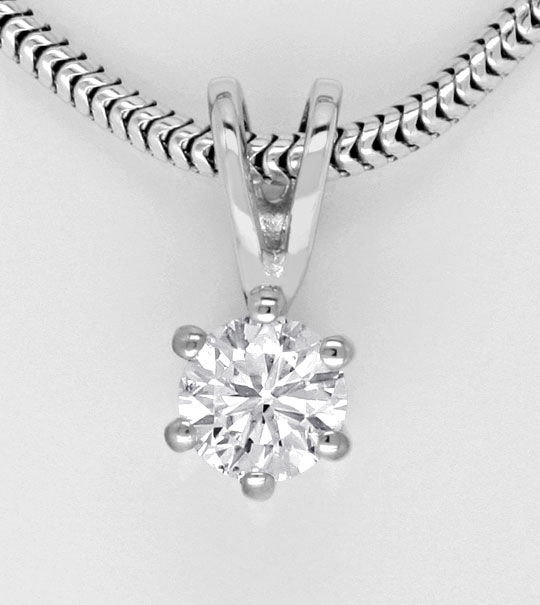 Foto 2, Brilliant Weissgold Kollier, Diamant Collier 0,25ct SI1, R1780