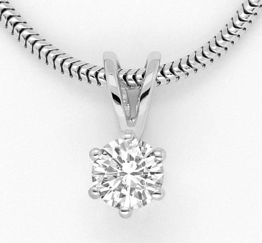 Foto 2, Brillant Weissgoldkollier 0,3 Diamant Collier Lupenrein, R1782