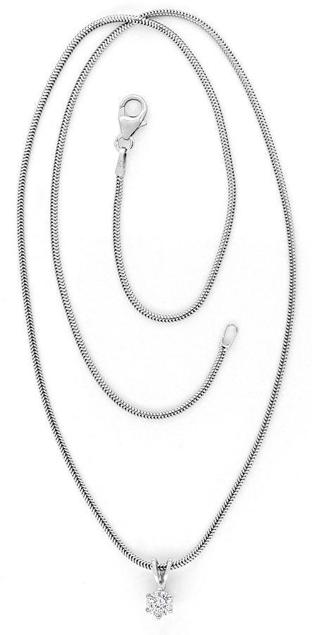 Foto 3, Brillant Weissgoldkollier 0,3 Diamant Collier Lupenrein, R1782