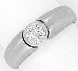 Foto 1, Massiver Designer Diamantring 0,46ct Brillant Weissgold, R1831