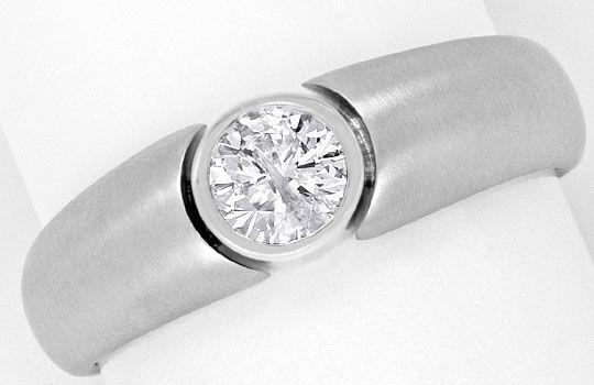 Foto 2, Massiver Designer Diamantring 0,46ct Brillant Weissgold, R1831