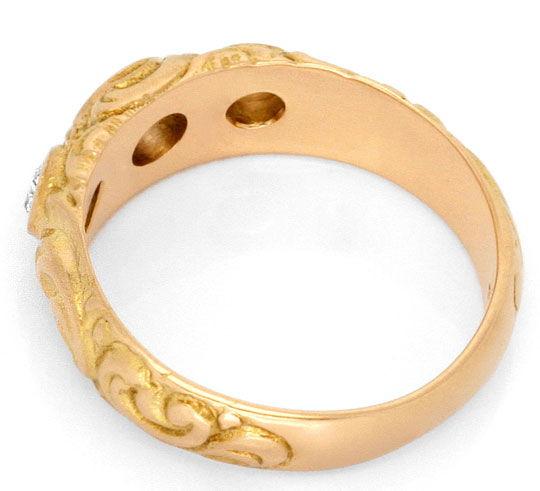Foto 3, Massiver Rotgold Diamanten Ring 18K Rot Gold 0,41 Carat, R1832