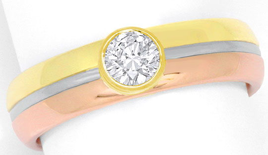 Foto 2, Brillant-Diamant-Ring 0,55ct Rotgold Gelbgold Weissgold, R1912