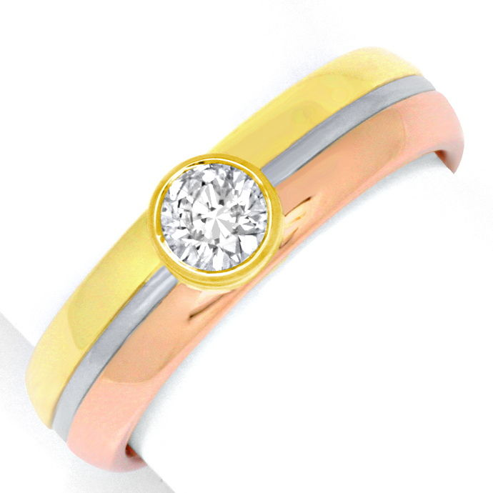 Brillant Diamant Ring 0,55ct Rotgold Gelbgold Weissgold, Designer Ring