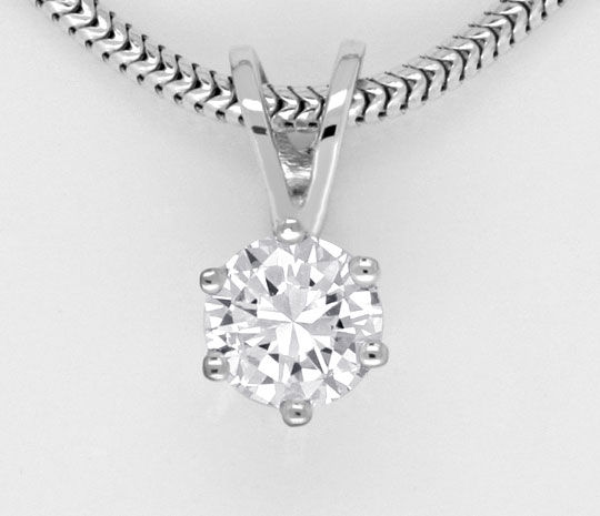 Foto 2, Brillant Kollier 0,33 ct Wesselton VVS1 Diamant Collier, R1986
