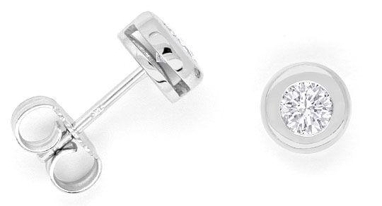Foto 1, Brillantohrstecker Diamantohrringe IGI 0,44ct Weissgold, R1987