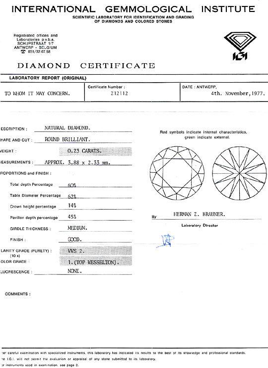 Foto 8, Brillantohrstecker Diamantohrringe IGI 0,44ct Weissgold, R1987
