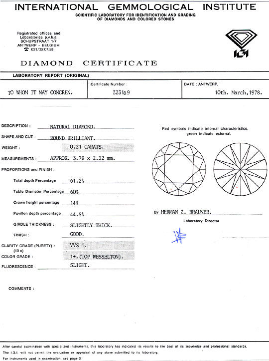Foto 9, Brillantohrstecker Diamantohrringe IGI 0,44ct Weissgold, R1987