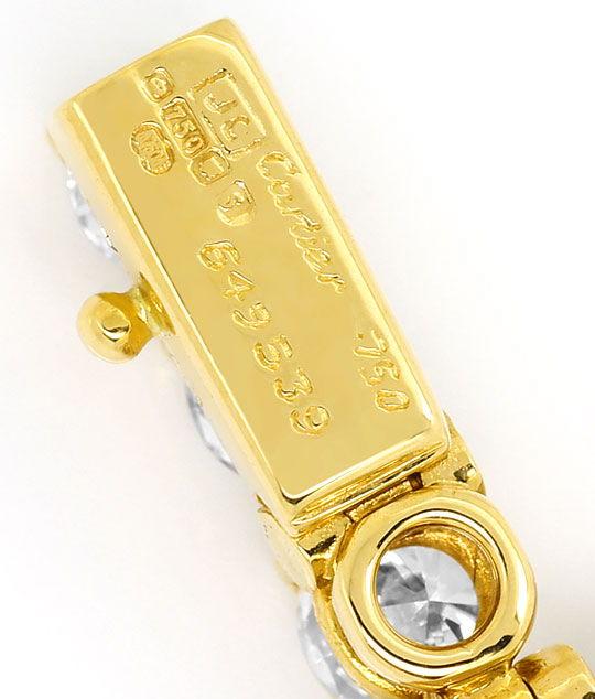 Foto 4, Cartier Tennis Armband Bracelet 7,60 ct River Lupenrein, R2096
