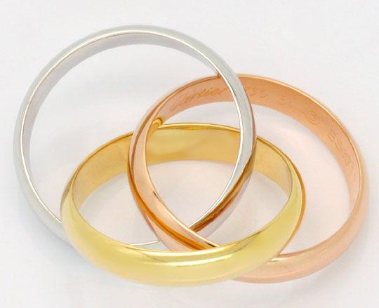 Foto 4, Les Must.de Cartier Trinity Ring Tricolor 18K Grösse 54, R2144