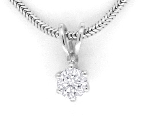 Foto 2, Diamant Solitär Krappe Kollier 0,24ct IGI 18K Weissgold, R2168