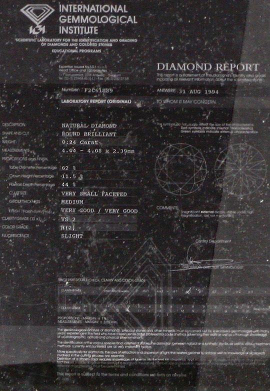 Foto 5, Diamant Solitär Krappe Kollier 0,24ct IGI 18K Weissgold, R2168