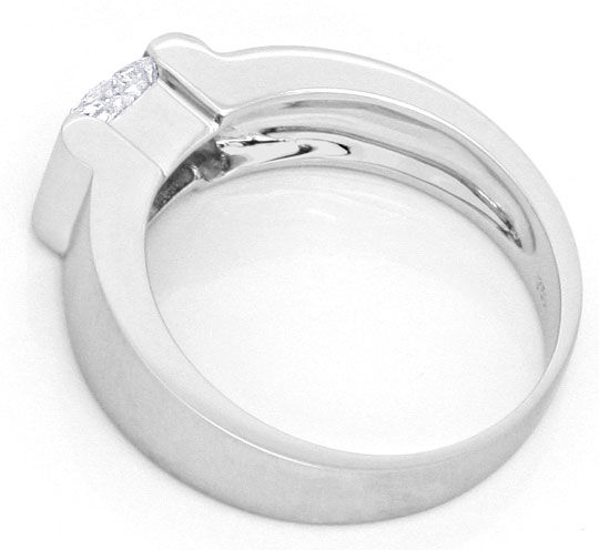 Foto 3 - Diamant Ring Einkaraeter Princess Diamant DPL Gutachten, R2338