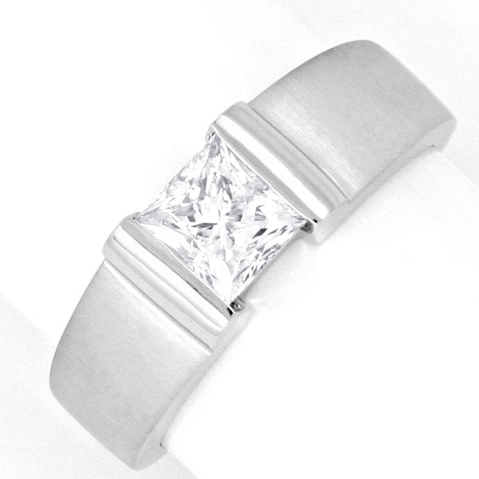 Diamant Ring Einkaraeter Princess Diamant DPL Gutachten, Designer Ring