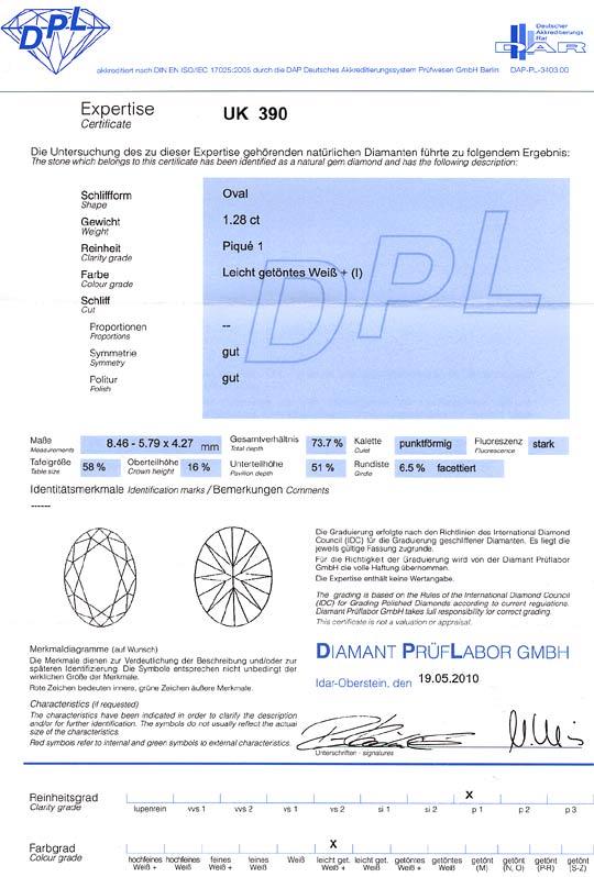 Foto 9, 1,28ct Ovaler Diamant Designerring Weissgold 18K massiv, R2442