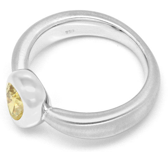 Foto 6, Diamantring 0,92 Fancy Brownish Yellow HRD 18K Weißgold, R2443