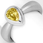 Diamantring 0,92 Fancy Brownish Yellow HRD 18K Weißgold