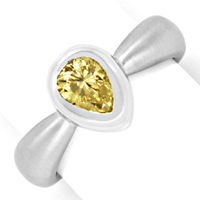 zum Artikel Diamantring 0,92 Fancy Brownish Yellow HRD 18K Weißgold, R2443