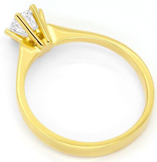 Foto 3, Lupenreiner Weisser Brillantring IGI Gutachten 18K Gold, R2445