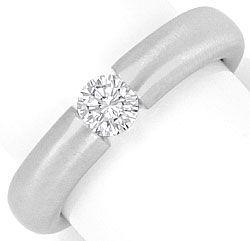Foto 1, Brillant Diamant Spannring 0,36 Top Wesselton Weissgold, R2446