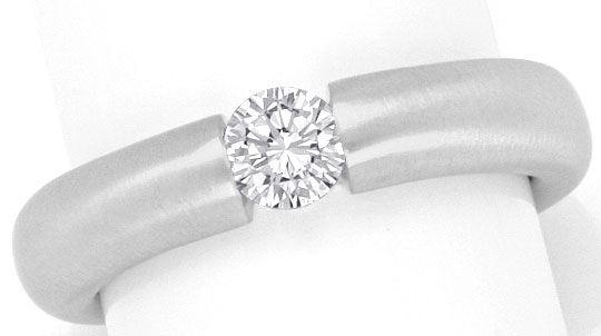 Foto 2, Brillant Diamant Spannring 0,36 Top Wesselton Weissgold, R2446