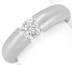 Foto 1, Brilliant Diamant Ring Halbkaraeter Wesselton Weissgold, R2447