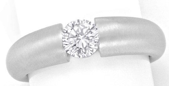 Foto 2, Brilliant Diamant Ring Halbkaraeter Wesselton Weissgold, R2447