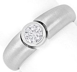 Foto 1, Brillant Diamant Designer Bandring 0,33ct 18K Weissgold, R2448