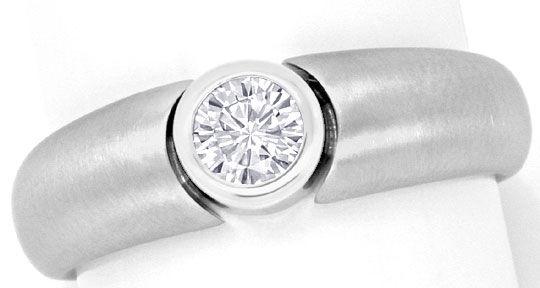 Foto 2, Brillant Diamant Designer Bandring 0,33ct 18K Weissgold, R2448