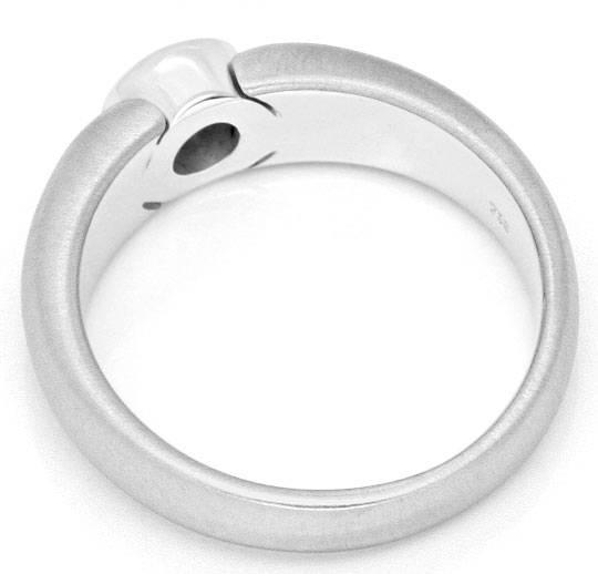 Foto 3, Brillant Diamant Designer Bandring 0,33ct 18K Weissgold, R2448