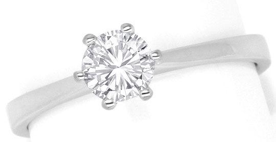 Foto 2, Brilliant Diamant Ring Halbkaraeter River 18K Weissgold, R2450