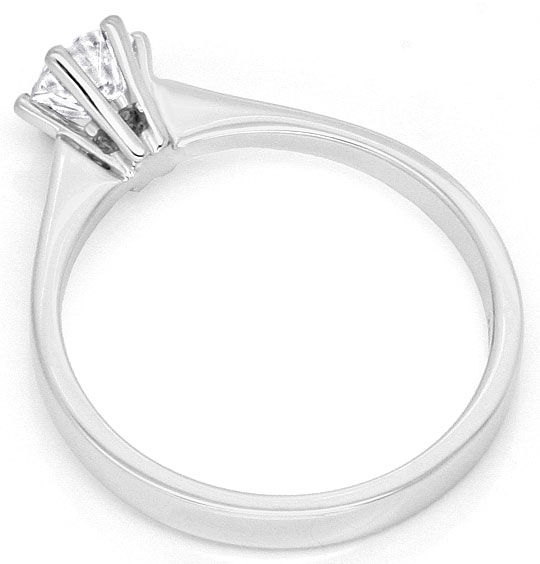 Foto 3, Brilliant Diamant Ring Halbkaraeter River 18K Weissgold, R2450