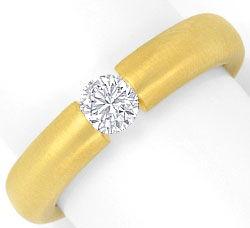 Foto 1, Diamantspannring 0,38ct Brillant Wesselton 18K Gelbgold, R2451