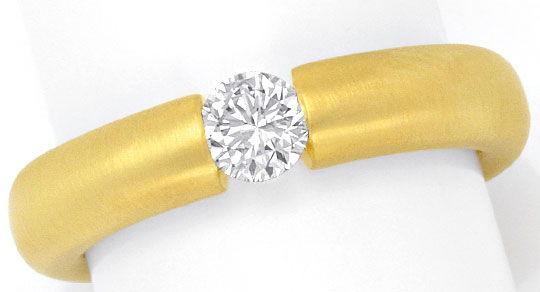 Foto 2, Diamantspannring 0,38ct Brillant Wesselton 18K Gelbgold, R2451