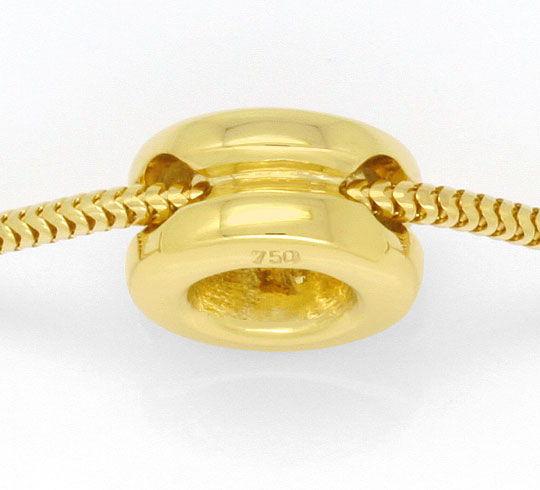 Foto 3, Brilliant Collier 0,48ct Lupenrein 18K Gelbgold Kollier, R2455