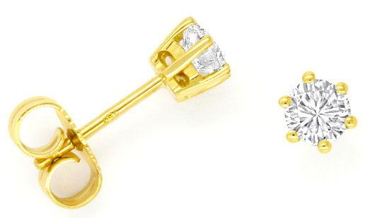 Foto 1, Diamant Ohrringe 0,62 ct Top Wesselton Plus F Lupenrein, R2463