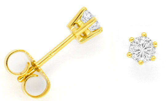 Foto 1 - Diamant Ohrstecker Brillanten 0,50ct River 18K Gelbgold, R2467