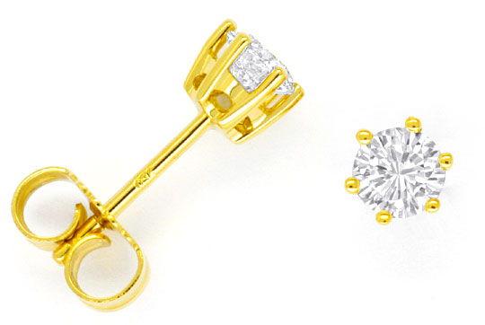 Foto 1, Paar Diamantohrstecker 0,61ct Lupenreine Brillanten 18K, R2468