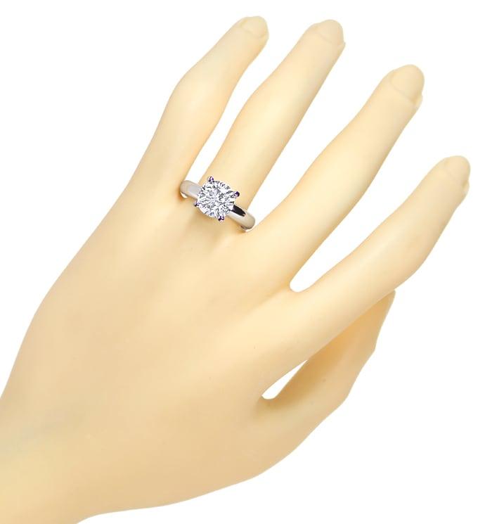 Foto 4, Riesen Brillant Diamantring 3,09ct massiv 18K Weissgold, R2553