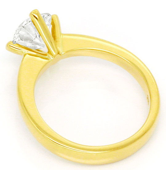 Foto 3, Massiver Gold Ring 1,84ct Diamant Solitaer 18K Gelbgold, R2554