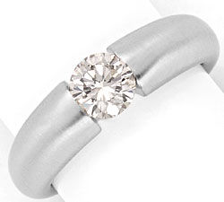 Foto 1, Brillant Diamantspannring 0,78ct mattiert 18K Weissgold, R2573