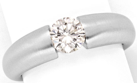Foto 2, Brillant Diamantspannring 0,78ct mattiert 18K Weissgold, R2573