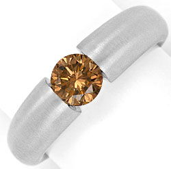 Foto 1, Brilliant Spannring 0,65 Fancy Deep Brown 18K Weissgold, R2588