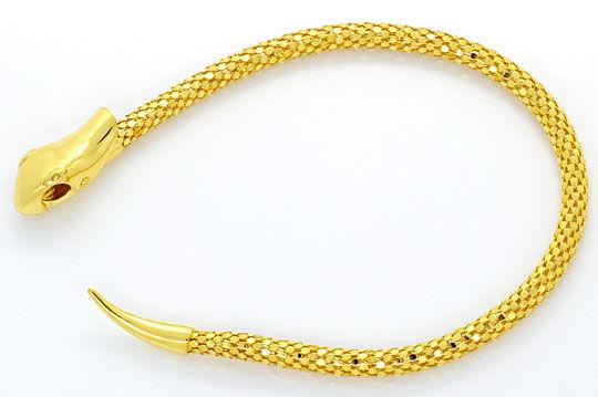 Foto 1, Set Goldkette Goldarmband im Schlangen Design Gelb Gold, R2616